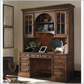 Sligh Breckenridge Woodland Credenza and Hutch Set in Briarwood