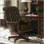Sligh Breckenridge Cascade Leather Desk Chair in Briarwood