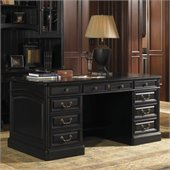 Sligh Breckenridge Broadmoor Pedestal Desk in Weathered Black