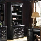 Sligh Breckenridge Keystone 2 Drawer File Cabinet and Hutch Set in  in Weathered Black