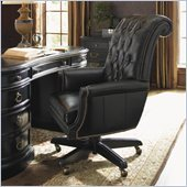 Sligh Breckenridge Cascade Leather Desk Chair in Weathered Black