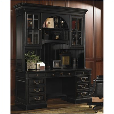 Sligh Breckenridge Woodland Credenza and Hutch Set in Weathered Black