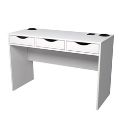 Tvilum Match Desk with Charging Station and Speakers in White