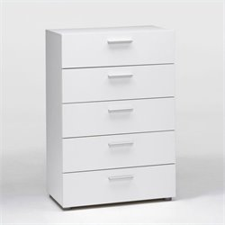 Tvilum Austin 5 Drawer Chest in White
