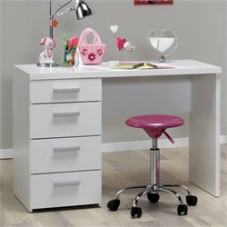 Tvilum Whitman Plus Four Drawer Desk in White