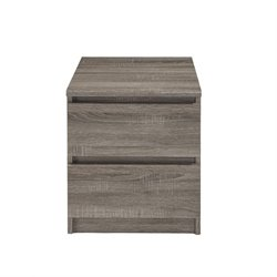 Tvilum Scottsdale 2 Drawer Nightstand in Truffle