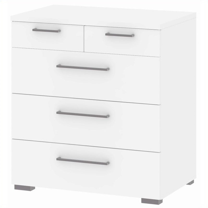 Tvilum Aria 5 Drawer Chest in White