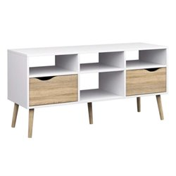 Tvilum Diana 2 Drawer TV Stand in White Oak