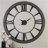 Uttermost Ronan 60 Inch Wall Clock in Dark Rustic Bronze