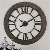 Uttermost Ronan Wall Clock in Dark Rustic Bronze