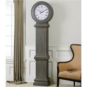 Uttermost Chouteau Floor Clock in Antiqued Dusty Gray