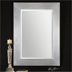 Uttermost Martel Contemporary Wall Mirror in Soft Sheen Aluminum