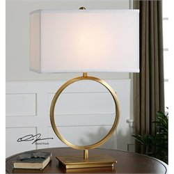 Uttermost Duara Circle Table Lamp in Plated Brushed Brass