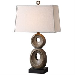 Uttermost Osseo Aged Table Lamp in Distressed Dusty Gray