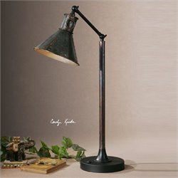 Uttermost Arcada Desk Lamp in Oxidized Bronze with Aged Black