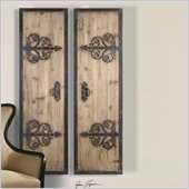 Uttermost Abelardo Panels in Lightly Stained Rustic Wood (Set of 2)