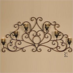Uttermost Juliana Metal Wall Sconce in Dark Red and Olive Bronze