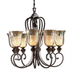 Uttermost Elba 8 Light Candle Chandelier in Spice