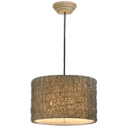 Uttermost Knotted Rattan Light Drum Pendant