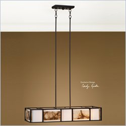 Uttermost Quarry 4 Light Chandelier in Oil Rubbed Bronze