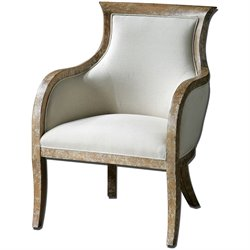 Uttermost Quintus Fabric Arm Chair in Tan