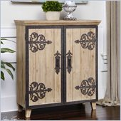 Uttermost Abelardo Lightly Stained Rustic Fir Wood Console Cabinet