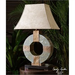 Uttermost Indoor and Outdoor Slate ITable Lamp in Hammered Copper
