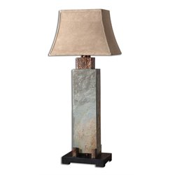 Uttermost Tall Slate Table Lamp in Hammered Copper
