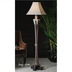 Uttermost Slate Tuscan Crackled Metal Floor Lamp