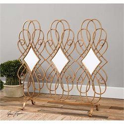 Uttermost Lilou Mirrored Fireplace Screen