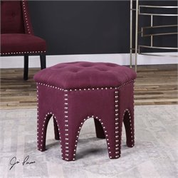 Uttermost Pippa Purple Small Stool