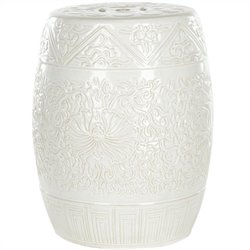 Safavieh Ceramic Garden Stool in White