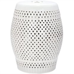 Safavieh Diamond Ceramic Garden Stool in Cream