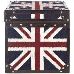 Safavieh England Assorted Color Square Trunk in Navy