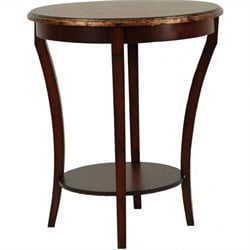 Safavieh Harrison Beidermeir Round Side Table in Dark Brown