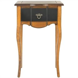 Safavieh Sologna Side Table in Black and Cherry Brown