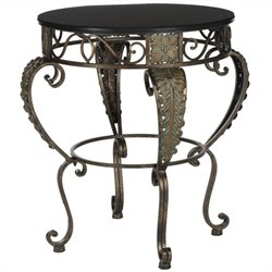 Safavieh Karen Fir and Iron Side Table in Dark Brown