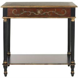 Safavieh Ronald Birch Wood Console in Dark Brown