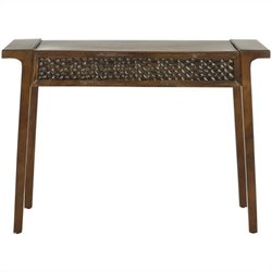 Safavieh Raymond Birch Wood Console in Dark Brown