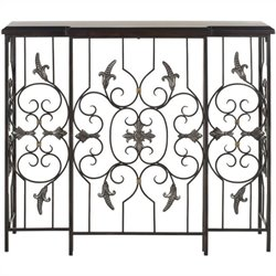 Safavieh Courtney Birch Wood Console in Dark Brown