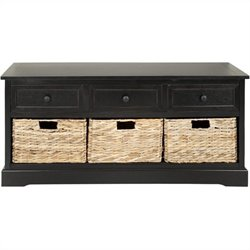 Safavieh Bud 3 Drawer Storage Unit in Black