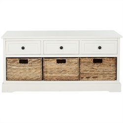 Safavieh Bud 3 Drawer Storage Unit in Cream