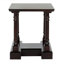 Safavieh Terry Wood End Table in Dark Cherry
