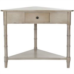 Safavieh Gabe Wood Corner Table in Grey