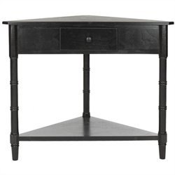Safavieh Gabe Wood Corner Table in Black