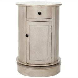 Safavieh Toby Wood Oval Cabinet in Grey