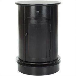 Safavieh Toby Wood Oval Cabinet in Black