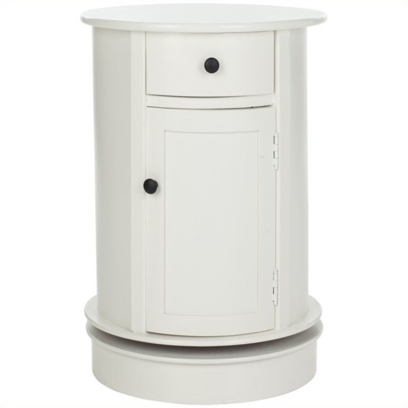 Toby Wood Oval Cabinet in Cream