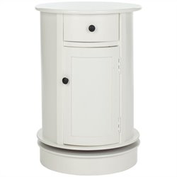 Safavieh Toby Wood Oval Cabinet in Cream