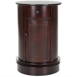 Safavieh Toby Wood Oval Cabinet in Dark Cherry